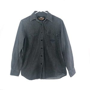Harley Davidson | Grey Button Up - Size M